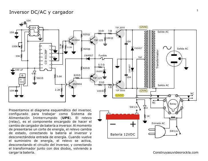 Inversor de voltaje DC - AC de 150W