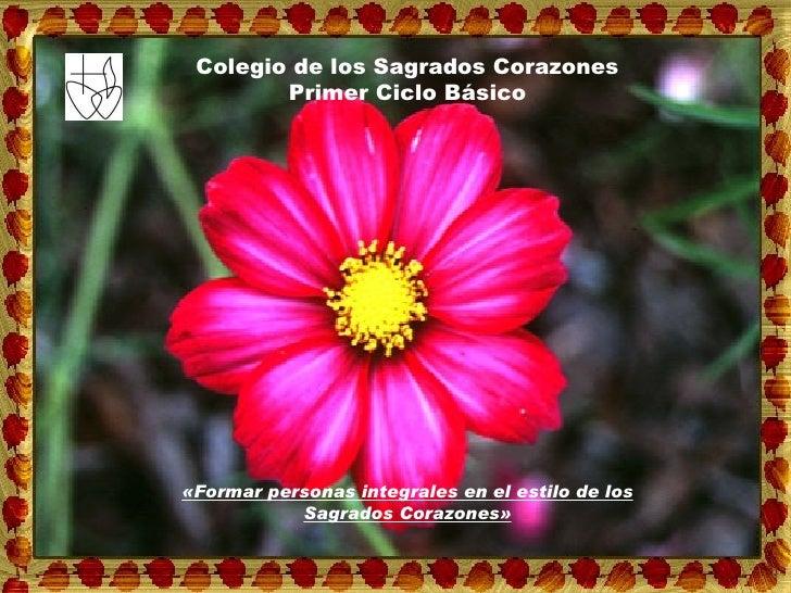 «Formar personas integrales en el estilo de los Sagrados Corazones» Colegio de los Sagrados Corazones Primer Ciclo Básico