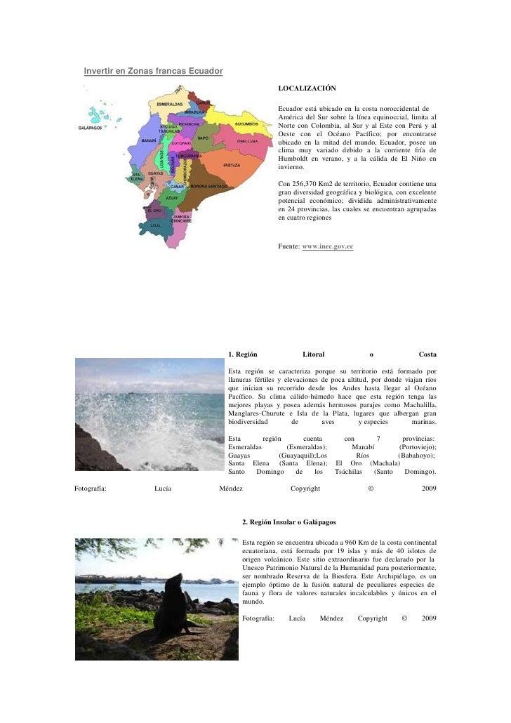 Invertir en Zonas francas Ecuador                                                          LOCALIZACIÓN                   ...