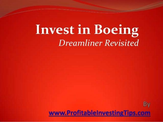 Invest in Boeing Dreamliner Revisited