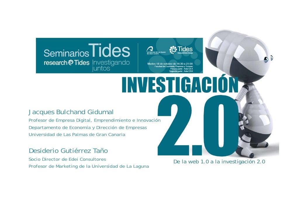 Investigación Web 2.0 - Seminarios Tides