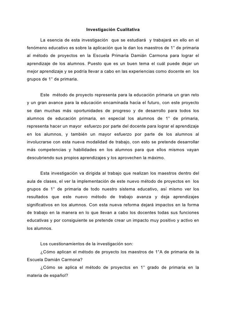 InvestigacióN Cualitativa Reporte Completo