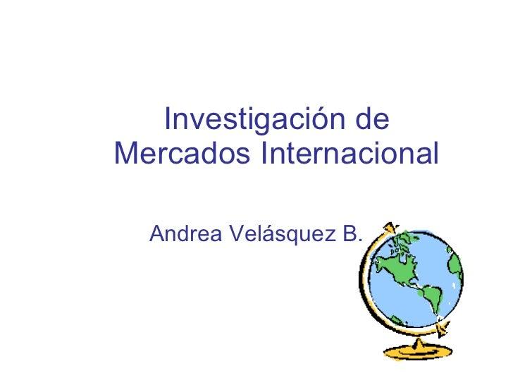 Investigación de Mercados Internacional Andrea Velásquez B.