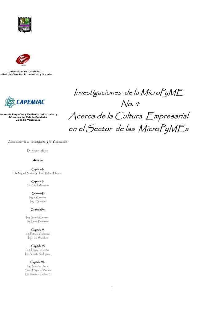 InvestigacióN Micropymes Vol.  No. 4