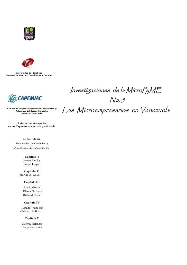 InvestigacióN Micropymes Vol. No. 5