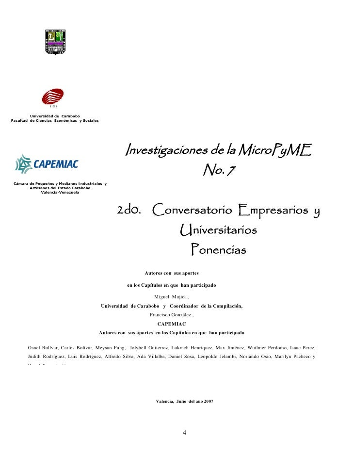Investigación Micropymes Vol.  No 7