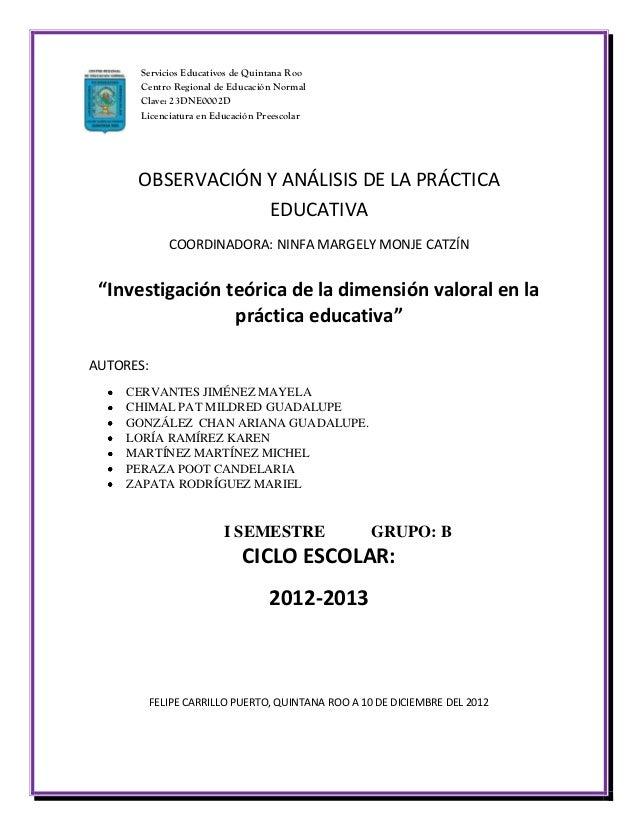 Servicios Educativos de Quintana Roo      Centro Regional de Educación Normal      Clave: 23DNE0002D      Licenciatura en ...