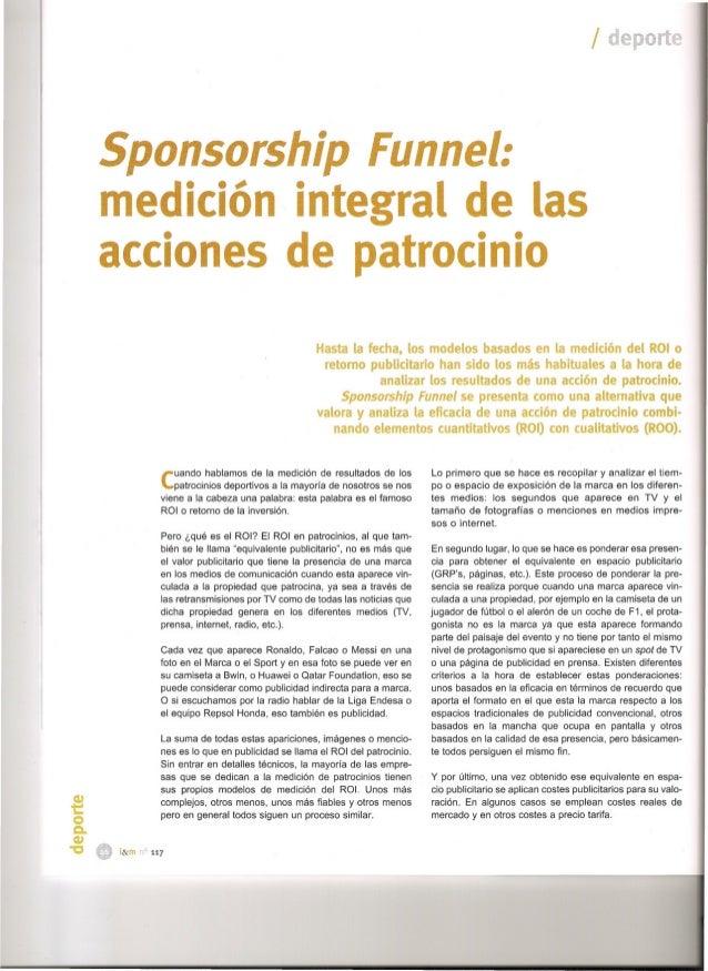 Sponsorship Funnel: medición integral de acciones de patrocinio