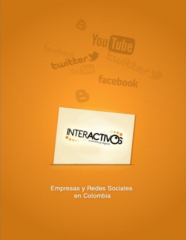 Investigacion empresas y redes sociales en Colombia Interactivos