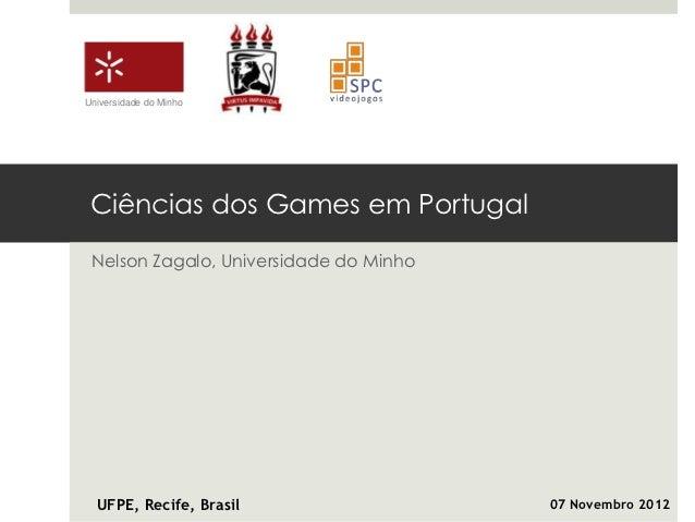 Ciências dos Games em Portugal