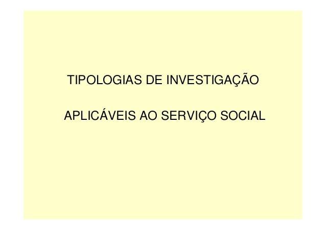 Investigação em serviço social