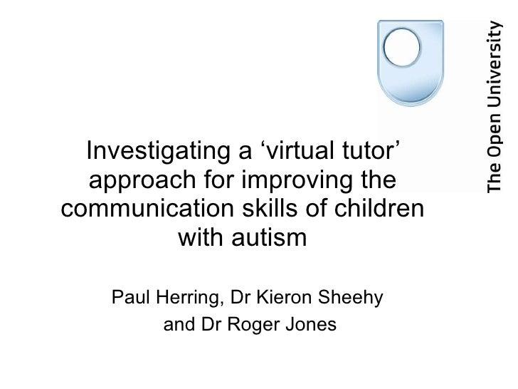 Investigating A Virtual Tutor Approach   Cape