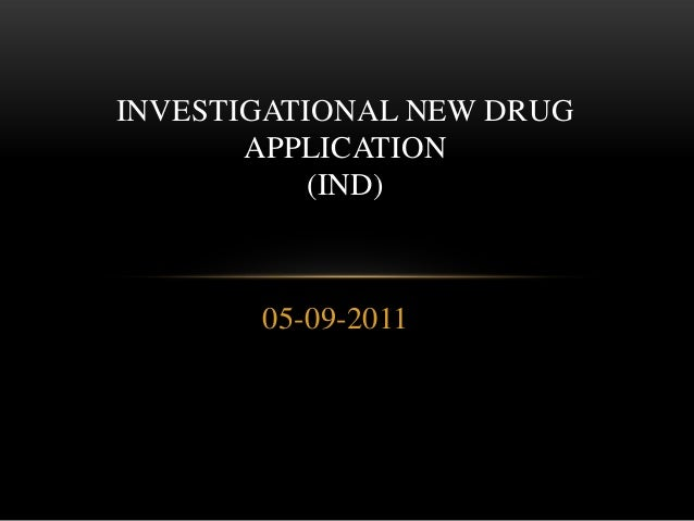Investigational new drug application new