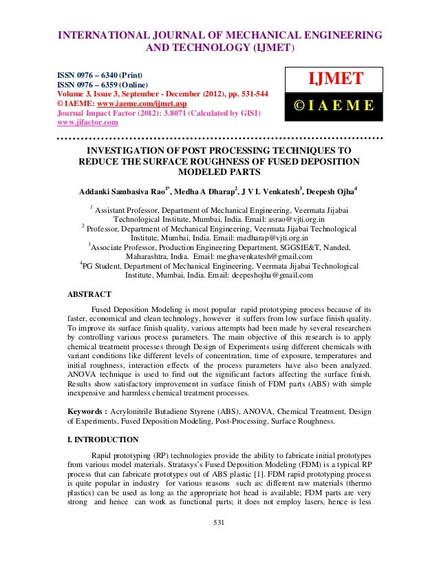 INTERNATIONAL Mechanical Engineering and Technology (IJMET), ISSN 0976 –  International Journal of JOURNAL OF MECHANICAL E...