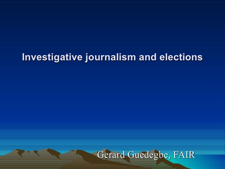 Investigative Journalism- African Elections Project