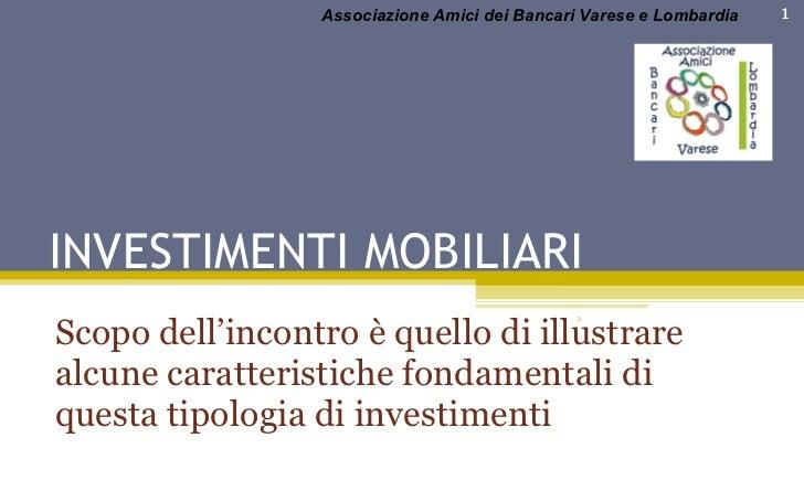 Investimenti Mobiliari
