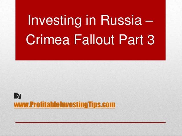 Investing in Russia - Crimea  Fallout Part 3