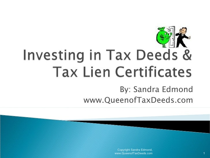 Investing In Tax Deeds & Tax Lien Seminar For Lake Co Presentation Used