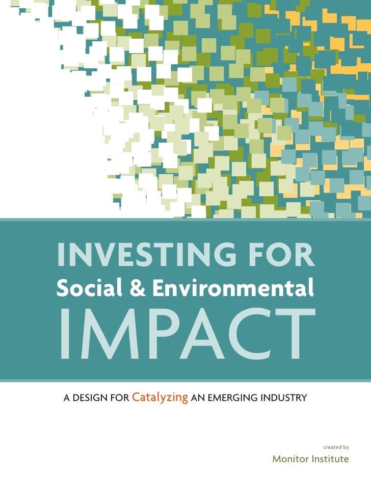 Investingfor Social Env Impact The Full Report