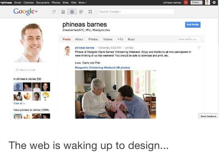 The web is waking up to design...