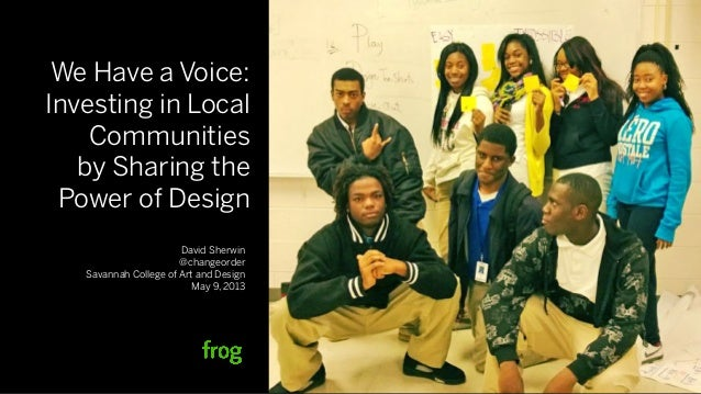 Investing in local communities by sharing the power of design