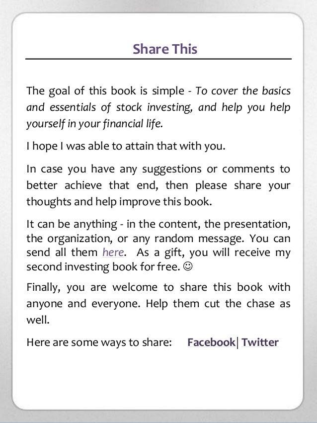 stock market trading for beginners pdf