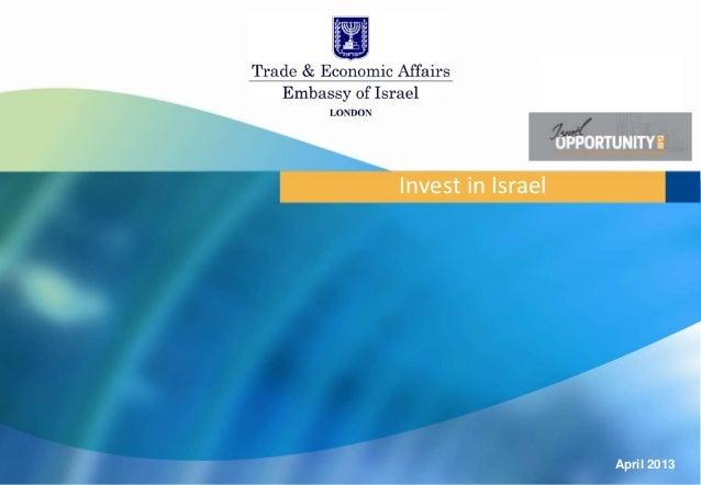 Invest in Israel                   April 2013