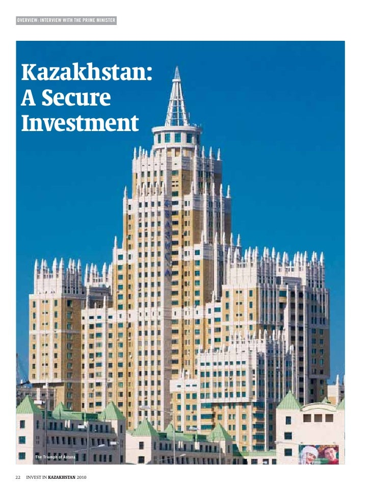Invest in kazakhstan   kazakhstan a secure investment