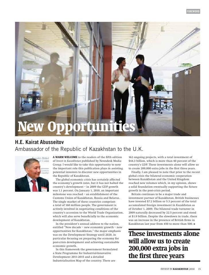 Invest in kazakhstan   new opportunities