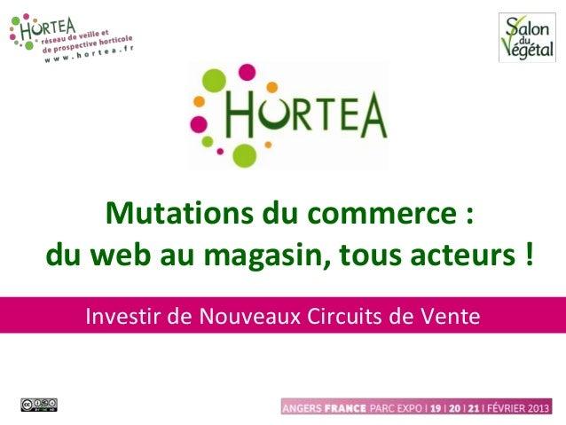 Mutations du commerce :    du web au magasin, tous acteurs !      Investir de Nouveaux Circuits de Vente1
