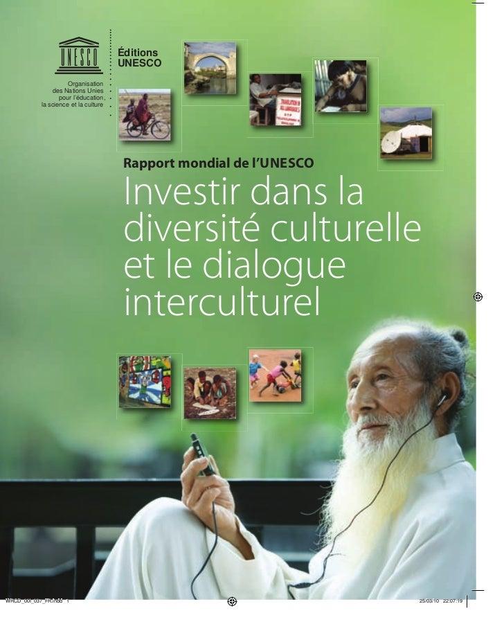 Investir dans la diversite culturelle le dialogue interculturel rapp - Investir dans des garages ...