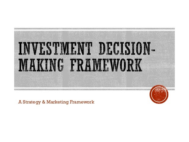 A Strategy & Marketing Framework