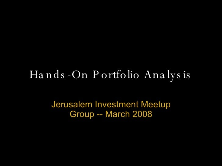 Hands-On Portfolio Analysis