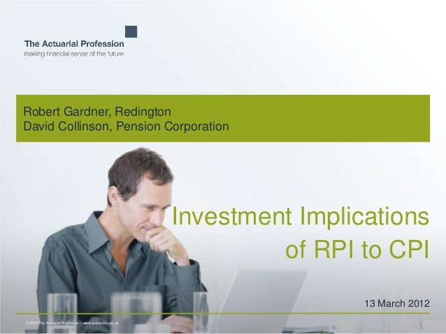 Investment Implications of RPI to CPI