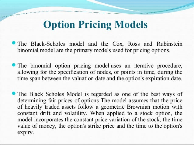 Binary option pricing model