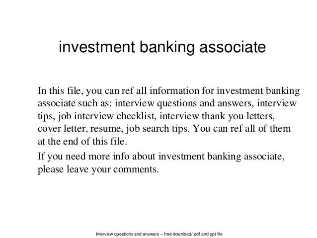 cover letter for investment banking associate position If you're looking to improve your investment banking cover letter, look no furtherhere are 10 ways to increase the number of bankers who read yours and love it.