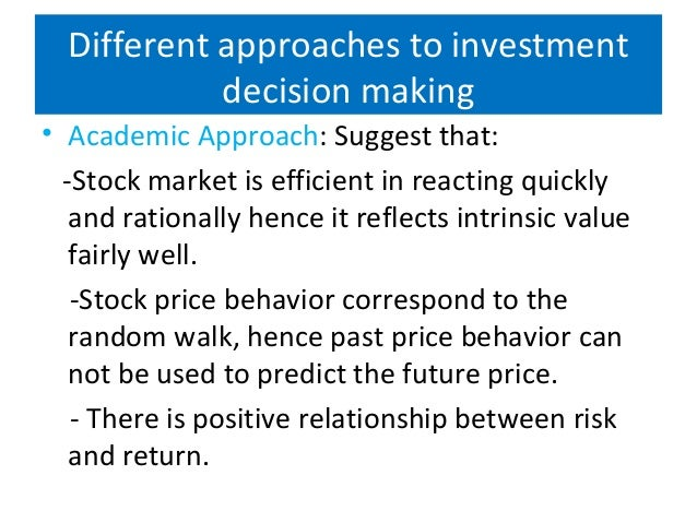 trading behavior and investment decision making Understanding fundamental human tendencies can help financial planners and advisers recognize behaviors that may some individuals experience overconfident behavior resulting in over trading, higher an essential aspect of the investment decision-making process is to understand a client.
