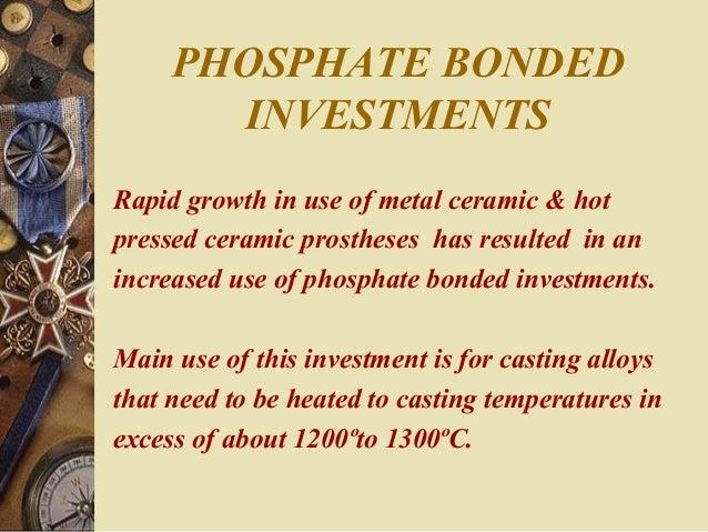 Phosphate Bonded Castable Phosphate Bonded Investments