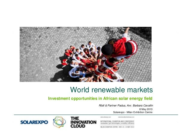 Investment opportunities in african solar energy field