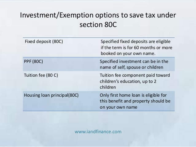 Best investment options for tax exemption