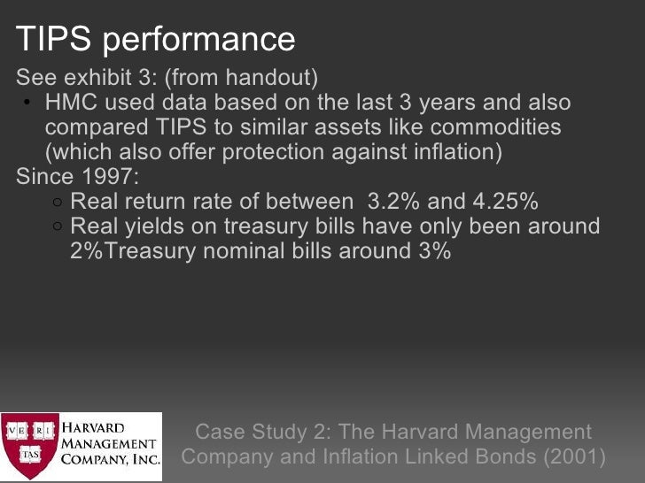 harvard management company case study questions The hmc & inflation protected bonds - case study - free download as  powerpoint  case study - harvard management company  question: • was  this right the time to move away from us equities to explore such unfamiliar  territory.