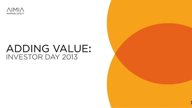 Investor Day 2013: Overview and Strategic Aspirations