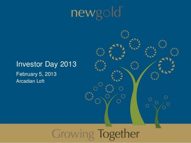 Investor Day 2013February 5, 2013Arcadian Loft                    1