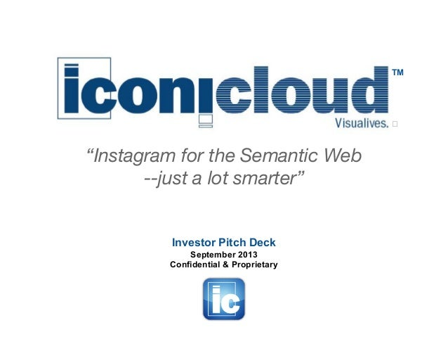 ICONICLOUD Investor Pitch Deck (September 2013)