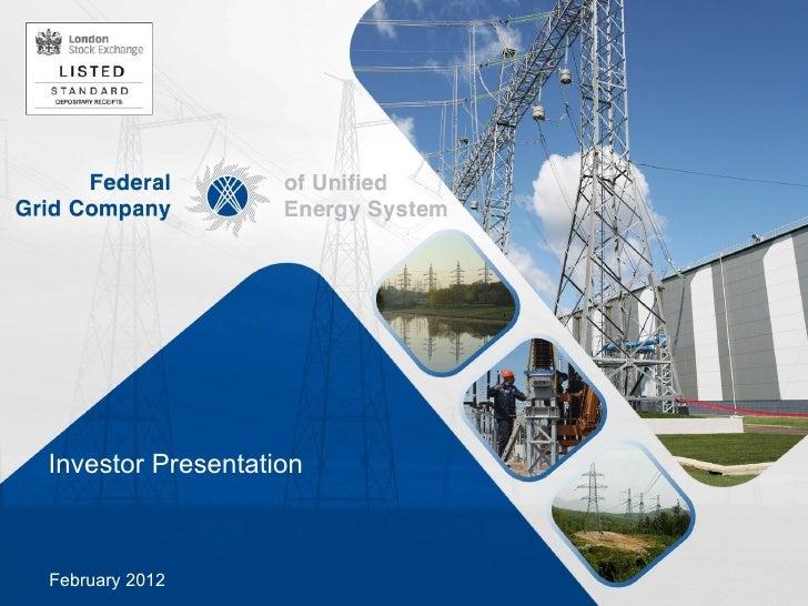 Investor PresentationFebruary 2012