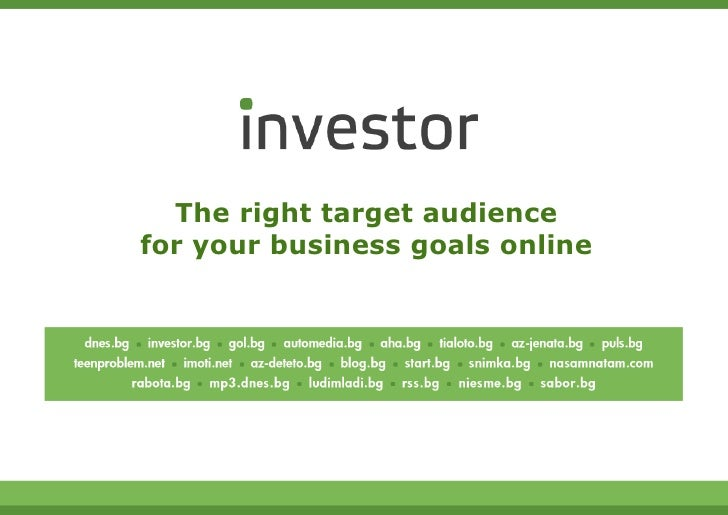 The right target audiencefor your business goals online                                 1