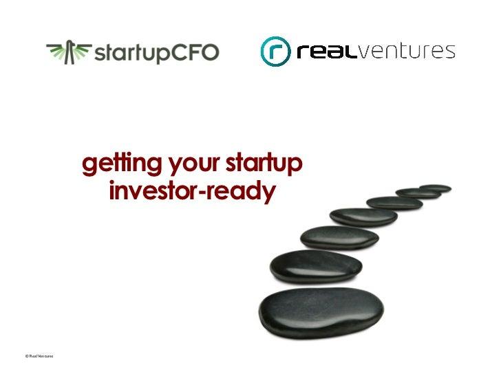Investor readiness presentation