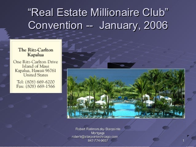 Seminar for Realtor Partners and Investors