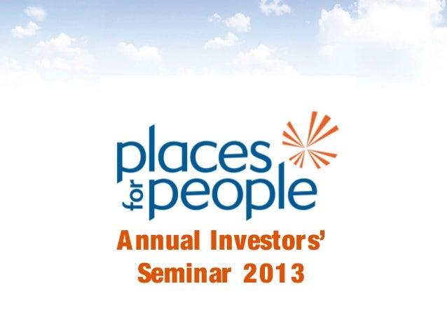 Annual Investors' Seminar 2013