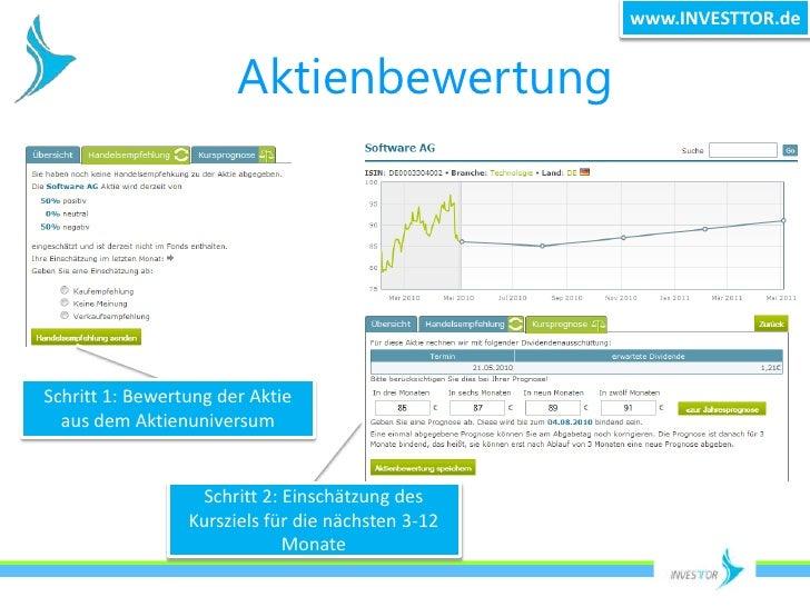 www.INVESTTOR.de<br />Aktienbewertung<br />Schritt 1: Bewertung der Aktie aus dem Aktienuniversum<br />Schritt 2: Einschät...
